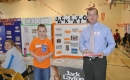 Trent Wotherspoon with a student at the Heritage Fair