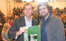 Trent Wotherspoon with organizer of Save the Film Industry