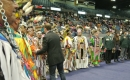 Trent Wotherspoon with dancers at the FNUC Powwow