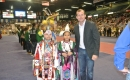 Trent Wotherspoon with First Nations dancers