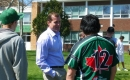 Trent Wotherspoon with students at Martin Communiy Day