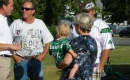 Trent Wotherspoon visiting with McNab residents