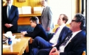 Trent Wotherspoon with caucus members